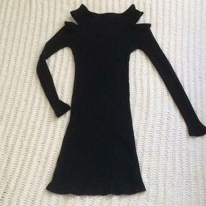 Black Ribbed Bodycon  Minkpink Mini dress Sz S